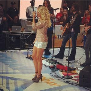 Carrie Underwood leggy on Today Show Summer Concert Series this morning hq and 60+ adds